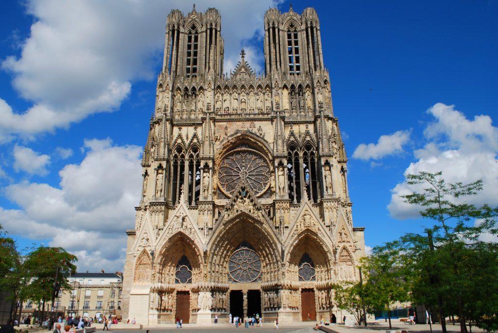 La cattedrale di Reims in Francia
