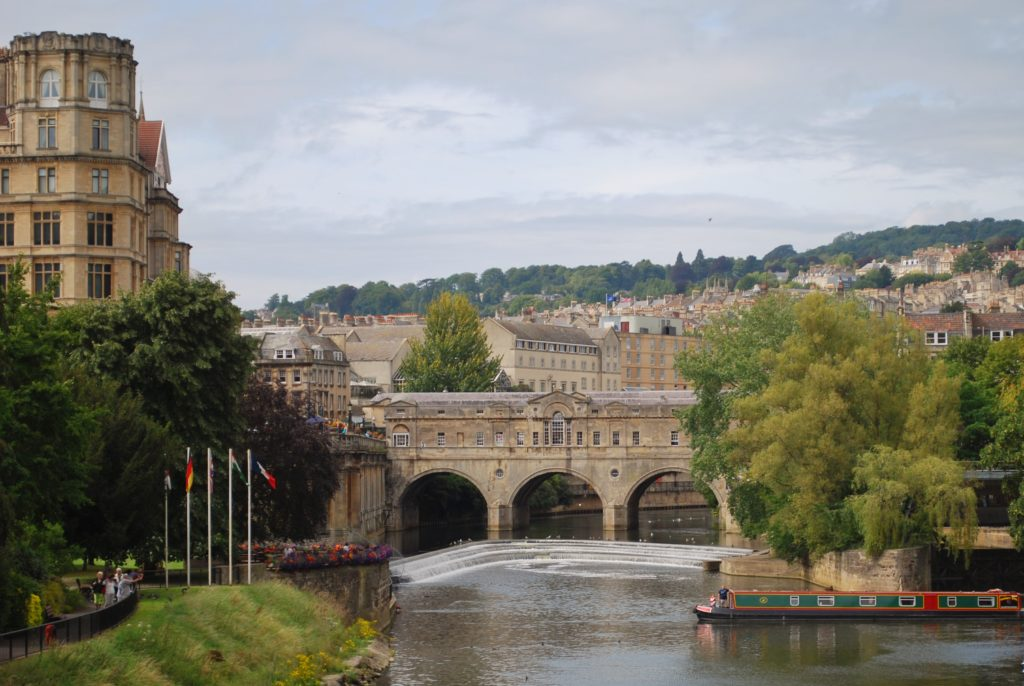 Ingresso della città di Bath in Inghilterra