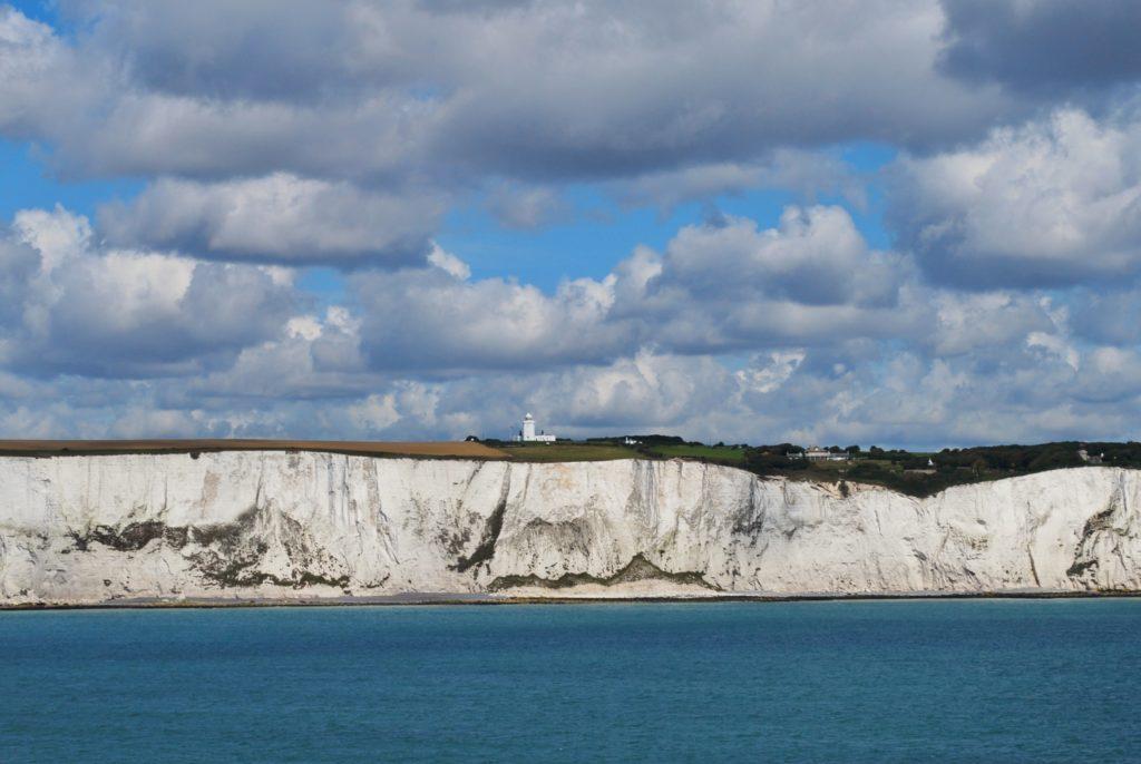 Particolare delle White Cliffs nel Regno Unito