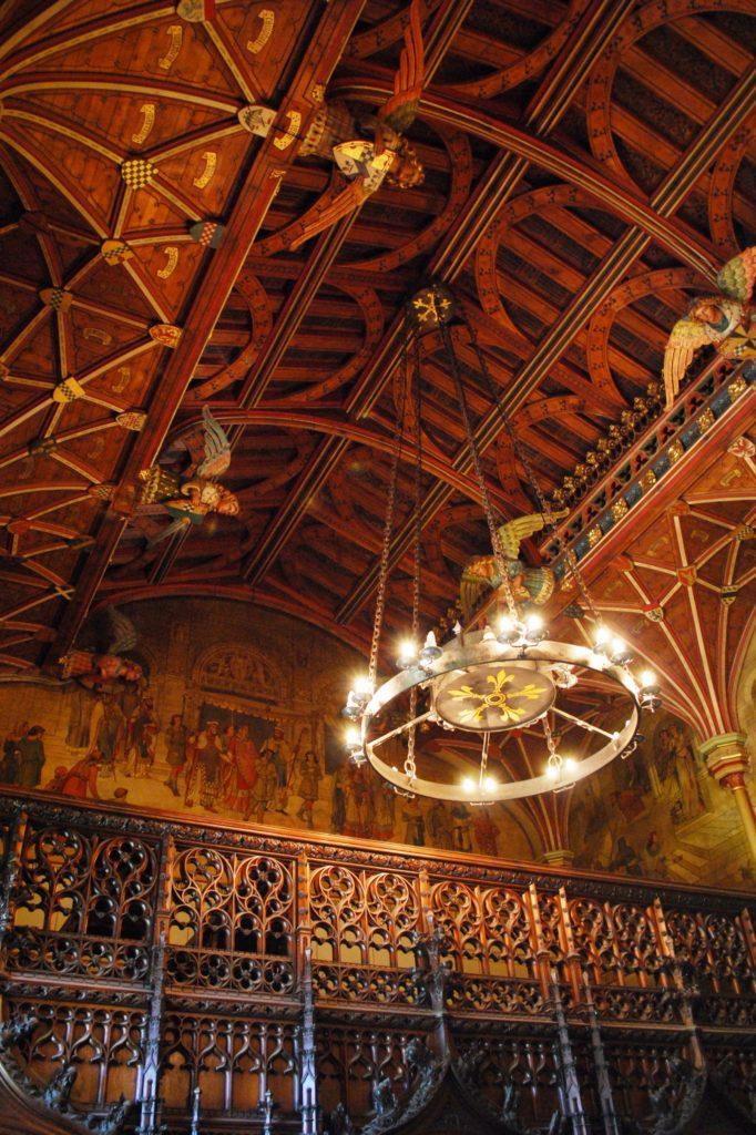 Sale maestose nel castello di Cardiff