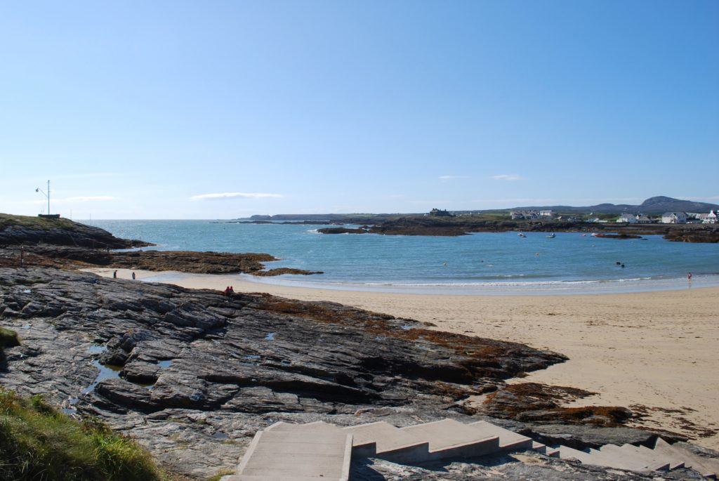 La spiaggia di Anglesey in Galles