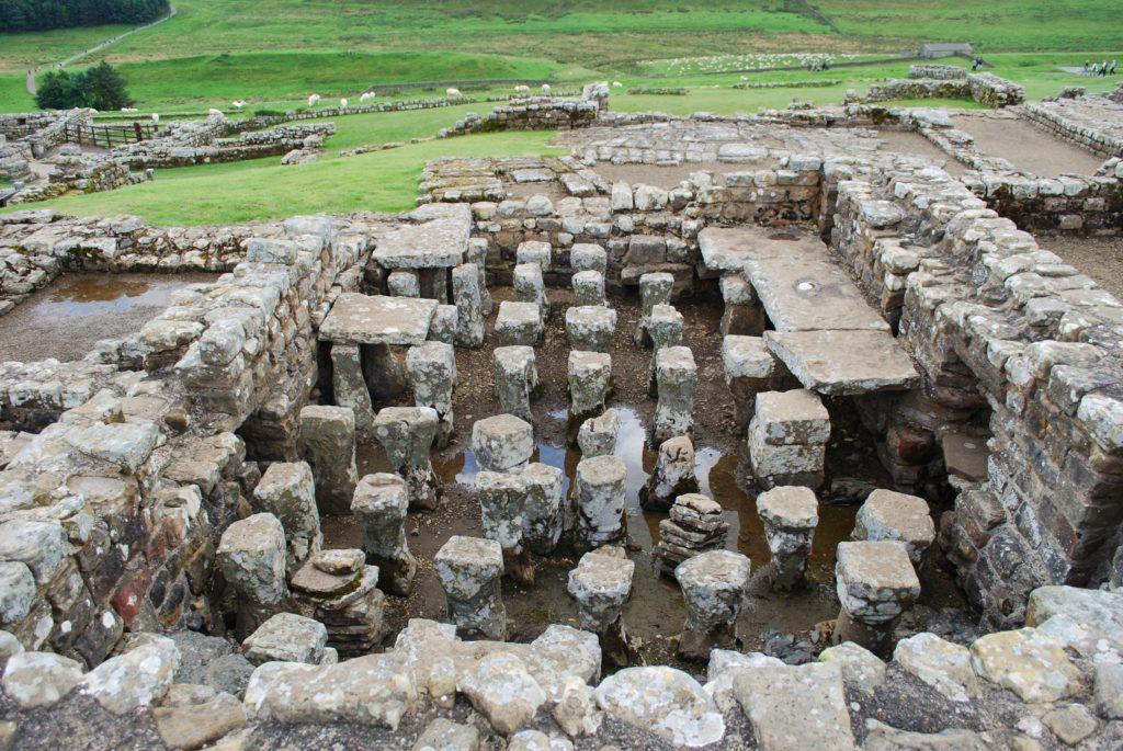Il forte romano di Vindolandia nel Regno Unito