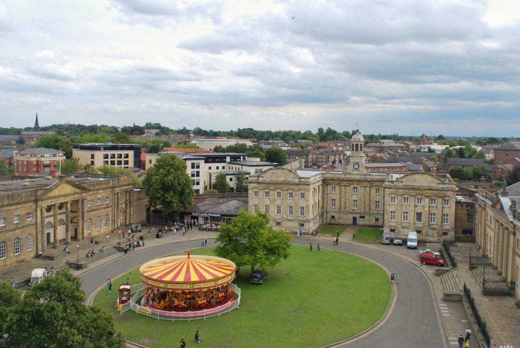 Vista dall'alto della città di York in Inghilterra