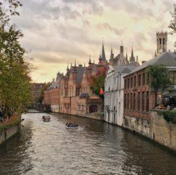 I canali di bruges, nelle Fiandre
