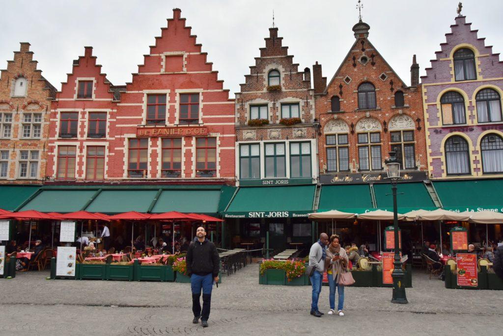 Le casette colorate del Markt a Bruges