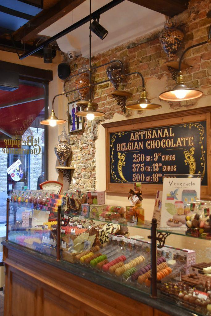 Bottega di cioccolato a Bruges