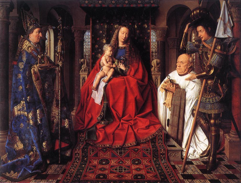 Madonna con il canonico Joris van der Paele, Jan van Eyck