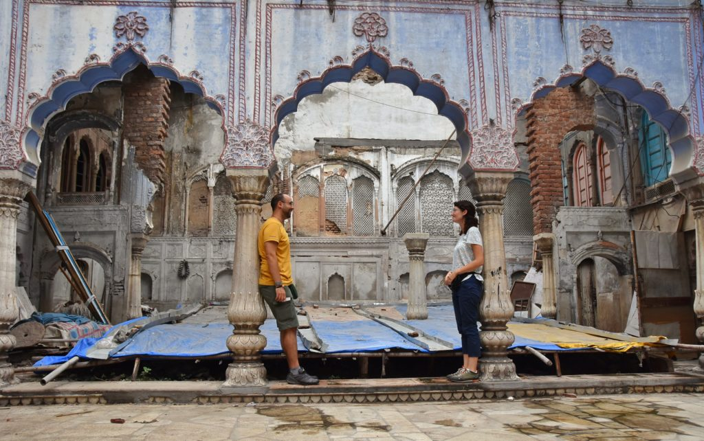 Haveli nel mercato di Delhi