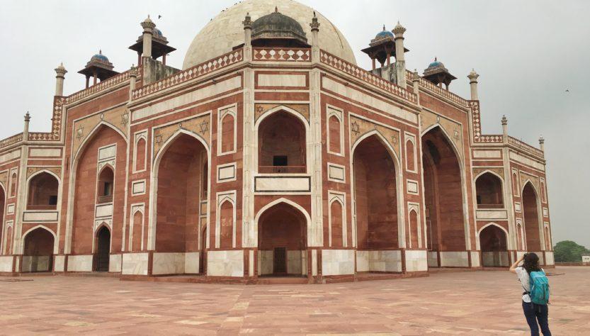 Prospettiva della tomba di Humayun