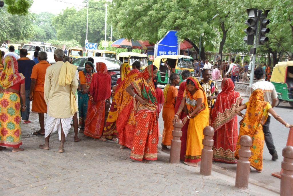 Donne nel loro abito tradizionale, il sari