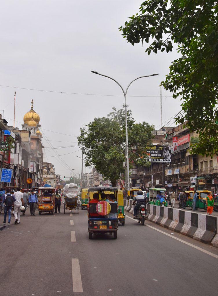 Il caos nelle strade di Delhi